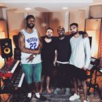 Los Angeles Music Producer Shayan Amiri in the studio with, Rohan, Lil' G, UTK