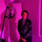 Sabi, in the studio with Sabi, Sabi singer, Los Angeles Music Producer Shayan Amiri