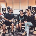 Los Angeles Music Producer Shayan Amiri in the studio with Esjay Jones and Sabi