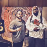 Los Angeles Music Producer Shayan Amiri in the studio with Six John