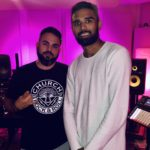 Los Angeles Music Producer Shayan Amiri in the studio with Rohan