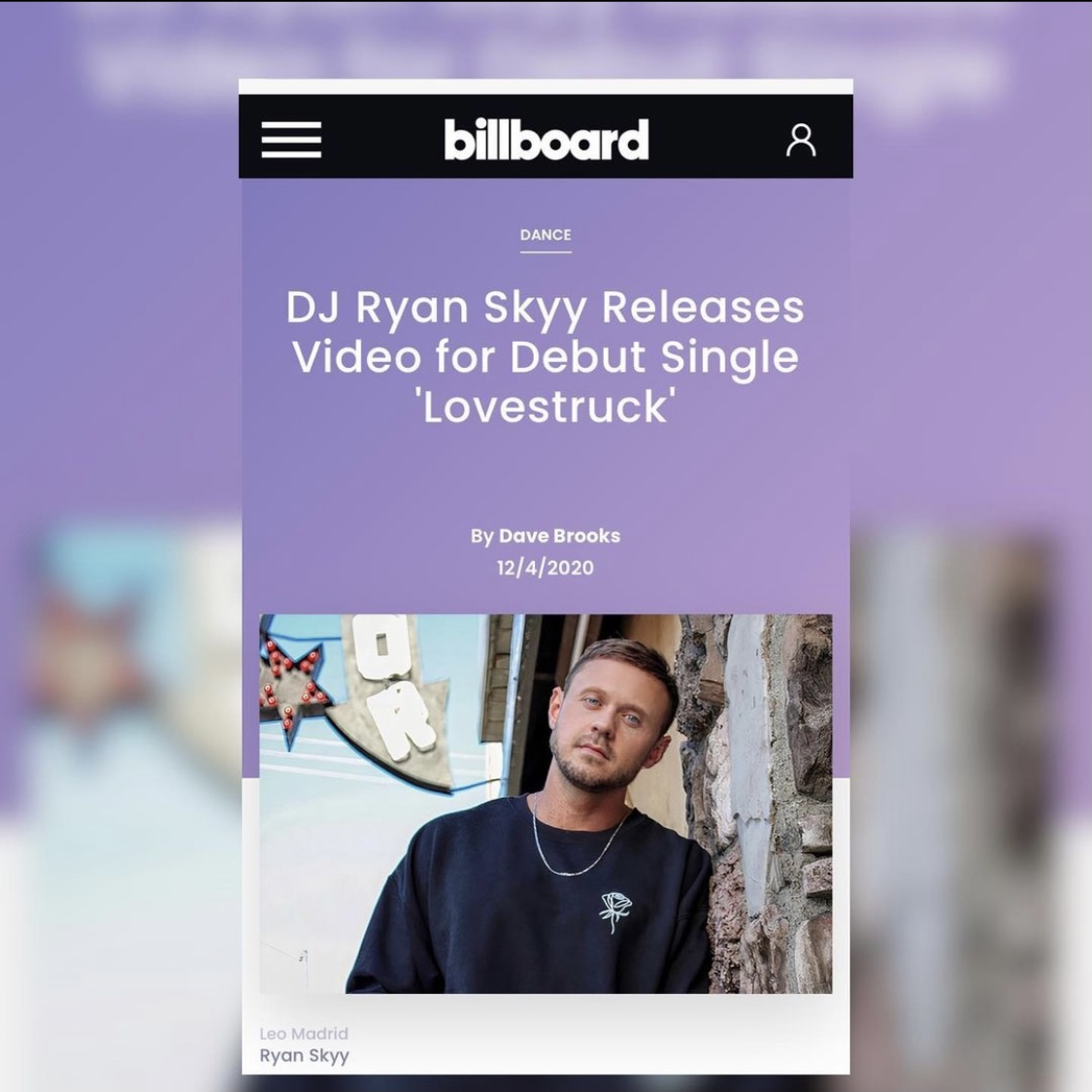 Shayan Amiri, Billboard Article, Los Angeles Music Producer
